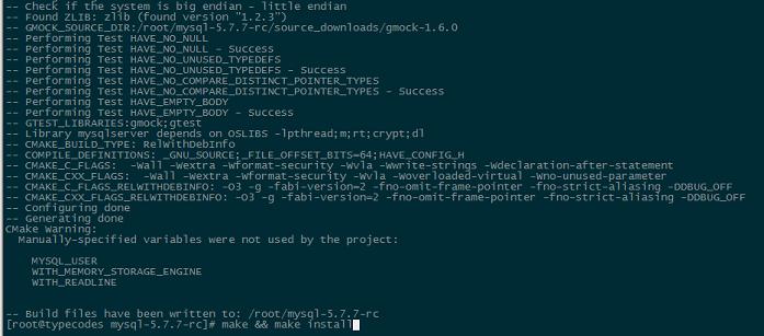 MySQL5.7.7rc编译前的配置
