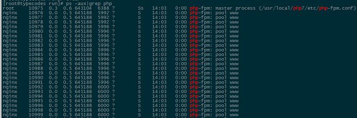 查看php服务进程