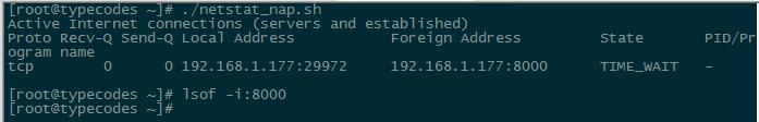 Linux中利用netstat和lsof命令查看TCP服务状态